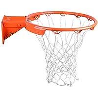 Aoligei Aro de Baloncesto, Canasta de Baloncesto, Canasta de Baloncesto con aro de Red, Soporte Pared Exterior Colgante Cesta20MM