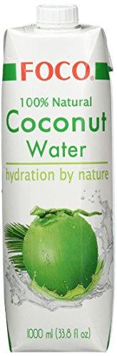 Foco Kokosnusswasser, Pur, 100 prozent natürlich, 1 l (100% Natürliches Kokosnusswasser)