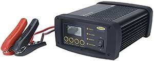 RING RSCPR25 Chargeur de Batterie Intelligent Professionnel Ring Smartcharge Pro, 12V, 2/6/12/25 Amp, 14 à 500Ah, tous Types de Batterie, Écran Lcd