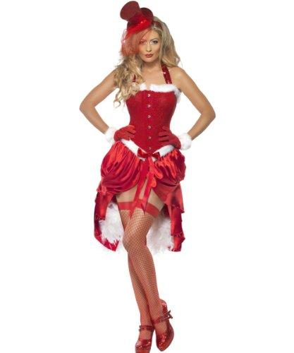 Burlesque Kostüm Baby - Smiffys Fever Santa-Baby-Kostüm Burlesque, Größe M