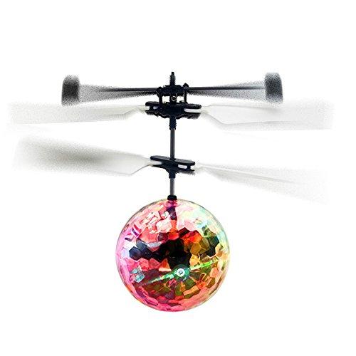RC Juguete EpochAir RC Flying Ball, Bola de vuelo RC Helicóptero Ball con Cambio de Color LED Flash Luces RC Juguete para Niños Adolescentes