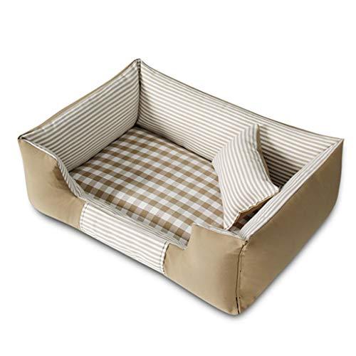 Haustier-Kisten-Bett-Haustier-Bett-Maschinen-waschbare vier Jahreszeiten verfügbares rechteckiges breathable (M-Art 72 * 52 Cm) 3 Farben vorhanden (Farbe : Beige)