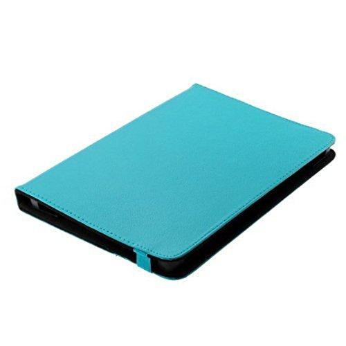 Bookstyle Tablet PC Tasche Etui Book Case blau mit praktischer Aufstellfunktion geeignet für Trekstor SurfTab twin 10.1 - Schutz Hülle Cover -