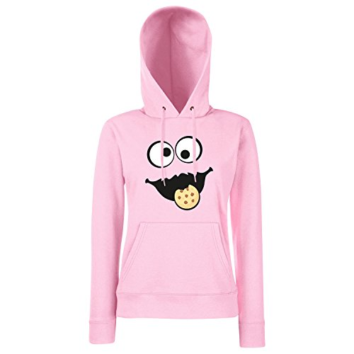 3dd902fa84 Shirt-Panda Keks Monster Damen Hoodie Gruppen Kostüm Karneval Fasching  Verkleidung Party JGA Light Pink S