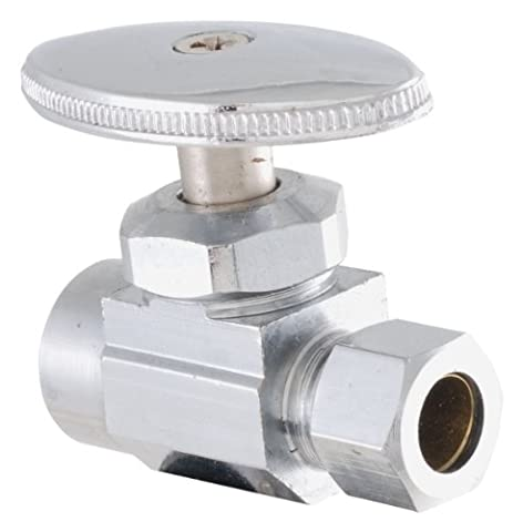 LDR 537 6300 Low Lead Shut Off Sweat Street Valve 3/8-Inch Compression x 1/2-Inch ID, Chrome by LDR