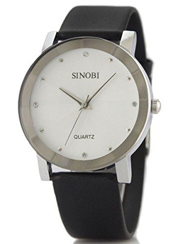alienwork-orologio-quarzo-moda-quarzo-elegante-poliuretano-bianco-nero-u981-02