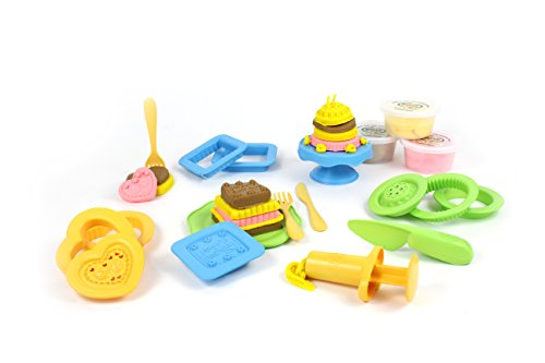 Green Toys DCM1-1243 Kinderknete, bunt (Toys Green Set)