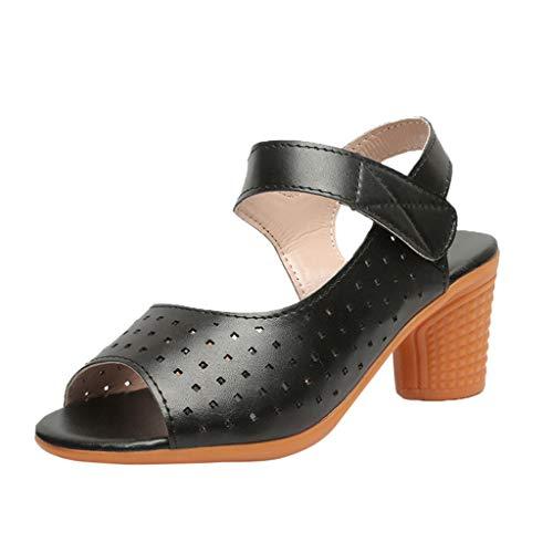 e725a078585def Wawer Damen Riemchen Abend Sandaletten High Heels Pumps Velours Peep Toes  Blockabsatz Schuhe