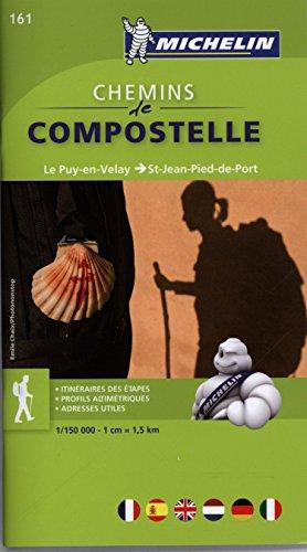 Chemins de Compostelle: Le Puy-en-Velay - Saint-Jean-Pied-de-Port Michelin Zoom Map 161 par Michelin