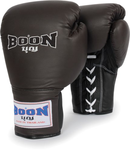 Boon Sport Leather Lace Training Gloves 12 oz