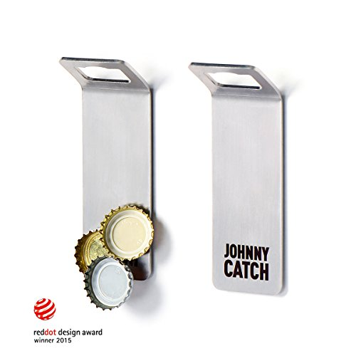 Johnny Catch Magnet - Flaschenöffner für die Wand ? fängt bis zu 20 Kronkorken
