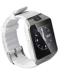"""Armband-Telefon Uhr, Armbanduhr Bluetooth Smart uhr 1.56"""" TFT LCD Touch Screen Smart Watch mit 1.54 Zoll Display / SIM Kartenslot / Schrittzähler / Schlafanalyse / SMS Facebook Vibration für Android Smartphone DZ09"""