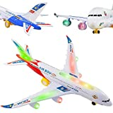 Liberty Imports Bump and Go Electric Airplane A380 Kids Action Toy | Big