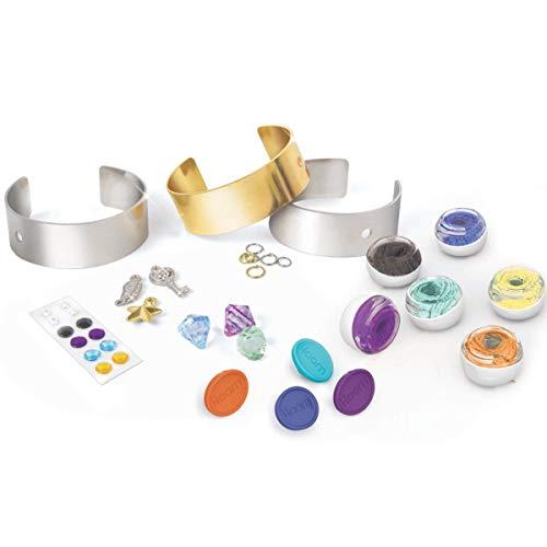 Style Me Up - Basteln Mädchen - i-Loom - Armreifen mit Glitzersteine zum aufkleben - Armbänder selber machen -Teenager Mädchen Geschenke - SMU-8043