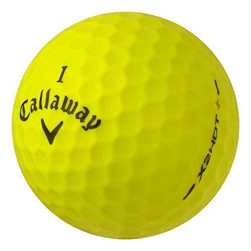 PearlGolf 36 Callaway X2 Hot Plus - AAAA - gelb - Lakeballs - gebrauchte Golfbälle