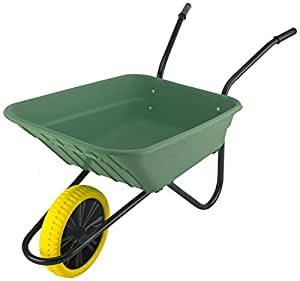 Walsall Carriole Shire Poly Puncture Wheelbarrow Proof - Verde