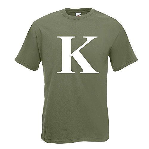 KIWISTAR Buchstabe K Alphabet TShirt in 15 verschiedenen Farben Herren  Funshirt bedruckt Design Sprüche Spruch Motive Oberteil Baumwolle Print  Größe S M L ...