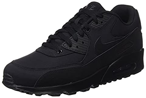 Nike Herren Air Max 90 Essential Sneaker, Schwarz (Black/Black-Black), 45.5 EU