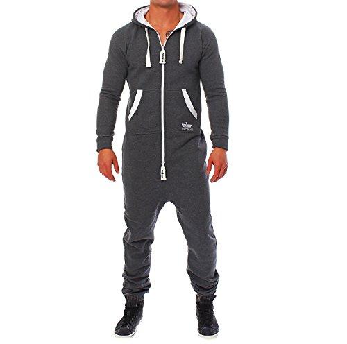 Finchman PH2 Herren Jumpsuit Jogging Anzug Trainingsanzug Overall Dunkelgrau L