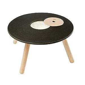 PlanToys- Round Table Mesa Redonda, Color Negro, Madera (8605)