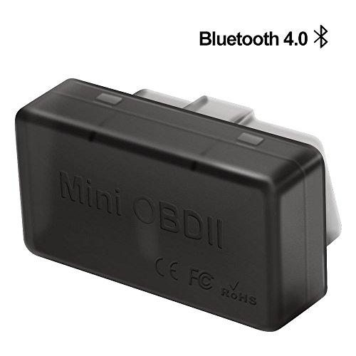 Bluetooth 4.0 Auto Diagnosescanner, OBD2 Scanner C02 Fehlercode lesegerät Mini OBDII Track Recorder Kamera Zubehör Diagnosegerät für Android/ IOS/ Windows/ Symbian