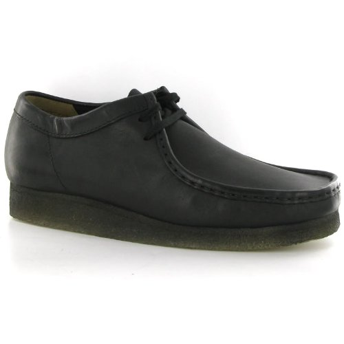 clarks-originals-wallabee-black-leather-mens-shoes-size-10