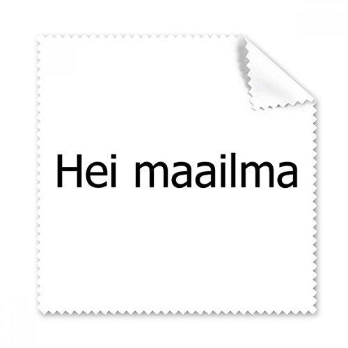 Hello World Finnische Brille Reinigungstuch Reinigungstuch Geschenk Handy-Display von 5x