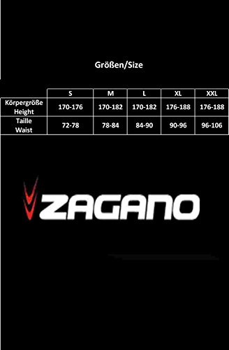 Zagano Herren Badehose / Schwimmhose / S - XXL / Kordelzug 01. Schwarz/Rot