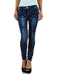 Used Look Low Nieten Skinny Jeans Für Damen bei Ital-Design