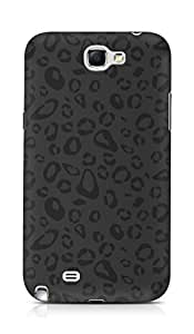 Amez designer printed 3d premium high quality back case cover for Samsung Galaxy Note 2 N7100 (black and grey leopard print)