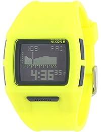 Nixon Small Lodown II Neon Yellow - Reloj de cuarzo para mujer, correa de plástico color amarillo