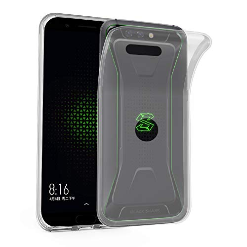 Preisvergleich Produktbild Cadorabo Hülle für Xiaomi Black Shark - Hülle in VOLL TRANSPARENT – Handyhülle aus TPU Silikon im Ultra Slim 'AIR' Design - Silikonhülle Schutzhülle Soft Back Cover Case Bumper