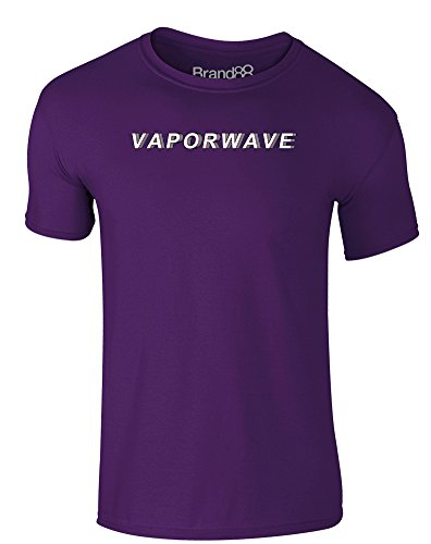 Brand88 - Vaporwave, Erwachsene Gedrucktes T-Shirt Lila