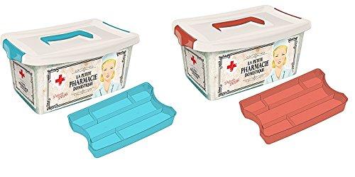 takestop® Kassette mit Griff Medizinische Erste Hilfe Medizinische Koffer Schublade abnehmbar Arzneimittel 27x 18x 14cm Farbe zufällig