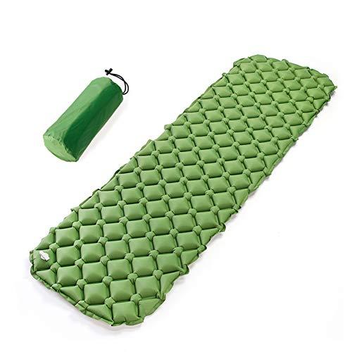 HHMGYH Schlafplatz Inflatable Sleeping Pad Air Matress Bett Outdoor Camping Portable 3D Pad TPU Nylon Climbing Beach Camping/Wandern/Höhlen für 1 Person/Ultra Light,Green -