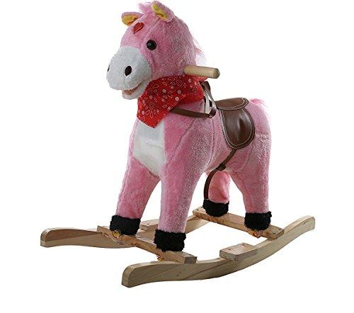 Baybee Unicorn Horse Wooden Rocker for Kids (Pink)