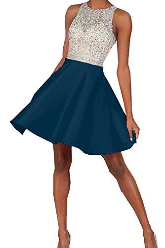 Toscana sposa Chic a forma di cuore stanotte vestimento Kurz Chiffon sposa giovane dal Cocktail Party ball vestimento Inkblau