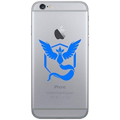 Pokemon Go-Team Mystic Handy Laptop Tablet Auto iPhone 44S 55C 5S 6Galaxy S4S5S6, Android Vinyl Fenster Glas Wände Bumper Aufkleber Aufkleber (blau) -