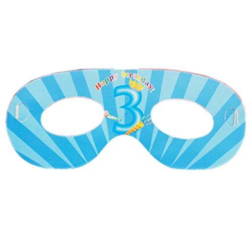 2 Packs Parti Eye Mask Decor Birthday Party Supply Parti, 3-ans Garçon