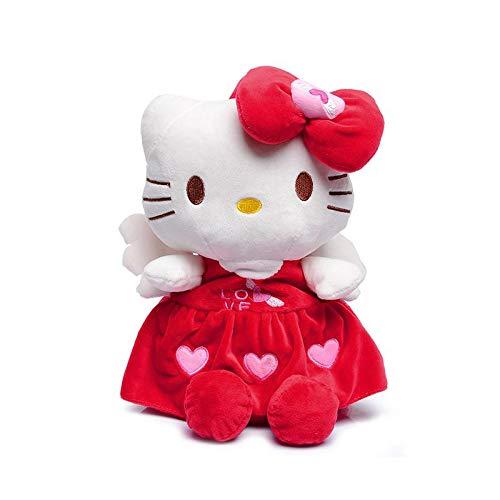 OOGUOSHENG Cartoon Kinder Plüsch Rucksack Kinder Spielzeug Minnie Kitty Puppe Spielzeug Mini Schultasche Kinder Rucksack Für Mädchen Baby Student Tasche, Rot Style1 (Kitty Mini-rucksack)