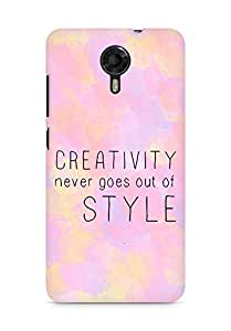 AMEZ creativity never goes out of style Back Cover For Micromax Canvas Xpress 2 E313