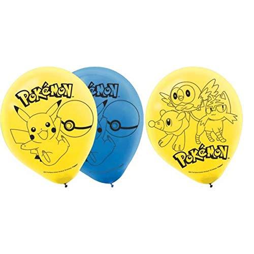 (Pokemon 6 Stk Ballons - 6 Stück Luftballons in Helium Qualität 2 Farben Ballongröße ca 30,4 cm)