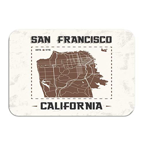 San Marino Golf (Yuerb Carpet Rug Door mat san Francisco Vintage Graphic Design City map Print Typography Label Badge Emblem 16 * 24 inch)