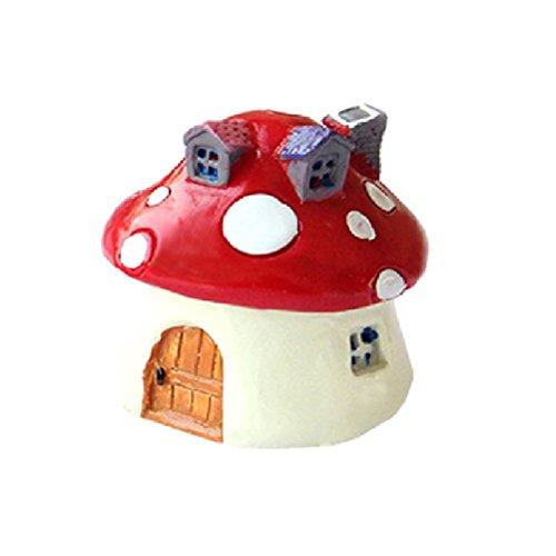 OUNONA - Figura decorativa en miniatura para casa de hadas, jardín, casa de muñecas (color rojo brillante)
