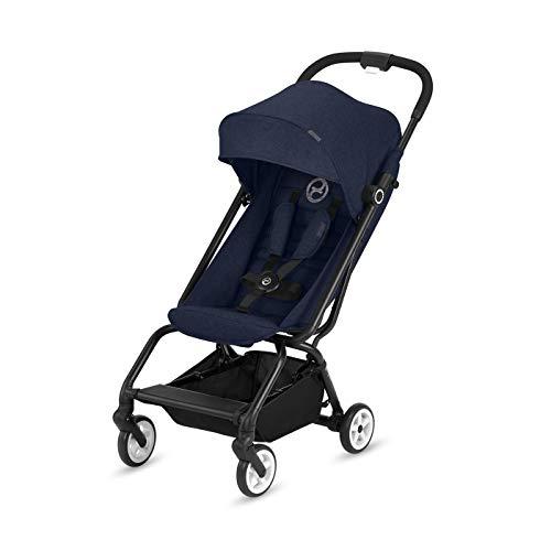 CYBEX Gold Buggy Eezy S, Einhand-Faltmechanismus, Ultrakompakt, Leichtgewicht, Ab ca. 6 Monaten bis 17 kg (ca. 4 Jahre), Denim Blue