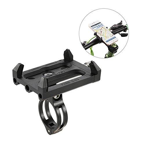 5 - Lixada Antideslizante Bicicleta Soporte de Teléfono Ajustable Soporte de Montaje para 3.6-6.2 Inch Teléfono Móvil Inteligente
