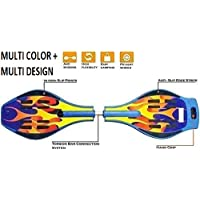 Cable World Heavy Duty Wave Board, Two Wheel Skate Board with 360 Degree Rotating Wheel,Shock Proof Brake with LED Flash Colourful Lights on Wheels. (Upto 90 Kg)(Multi Colour & Design)