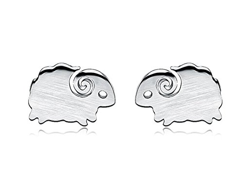 bodya-pair-polished-silver-plated-tiny-matte-brushed-tiny-sheep-design-ear-post-bar-stud-earrings-si