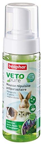 Beaphar - VETOpure, mousse répulsive antiparasitaire - rongeurs et petits mammifères - 150 ml