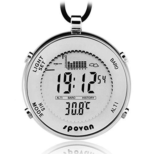 Spovan Herren Sport Taschenuhr Angeln erinnern EL Hintergrundbeleuchtung Alarm Stoppuhr Höhenmesser Barometer Outdoor Uhren